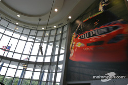 Visit of Hendrick Motorsports: the spectacular lobby inside the building of #24 and #48 teams