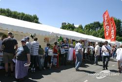 Vendors at scrutineering