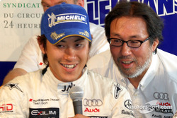 Seiji Ara and team principal Kazumichi Goh