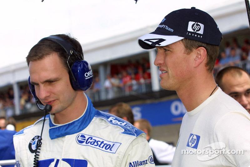 Ralf Schumacher en la parrilla de salida