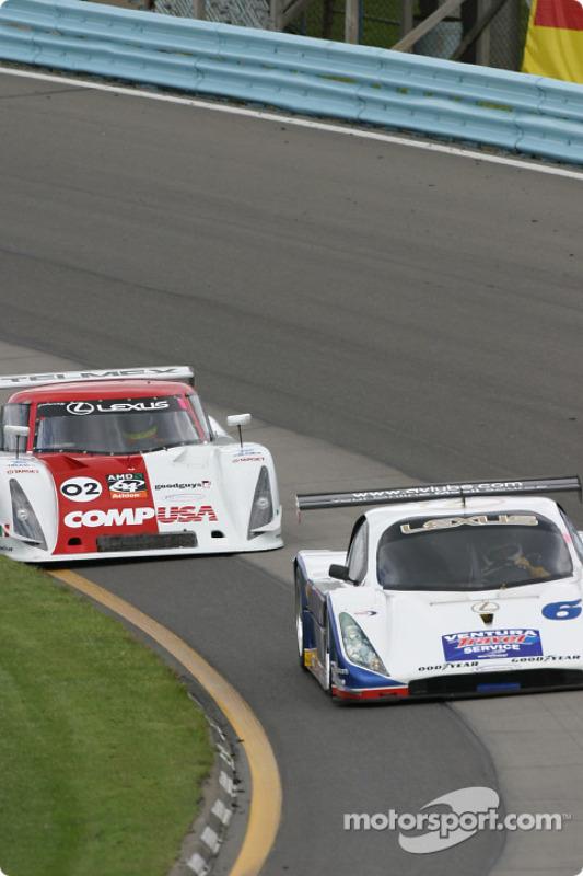 La Lexus Doran n°6 du Michael Shank Racing (Oswaldo Negri Jr., Burt Frisselle) et la Lexus Riley n°0