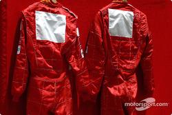 Les combinaisons des pilotes Ferrari