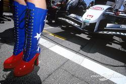 USGP grid girls boots