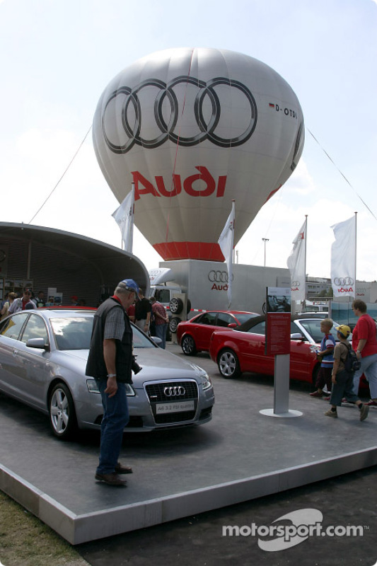 Audi display in the Norisring paddock