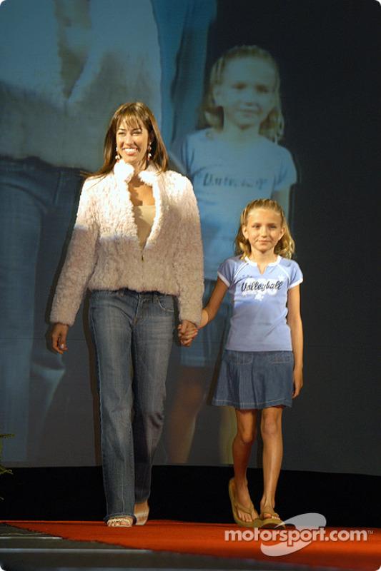 Kati Castroneves and Anna De Ferran