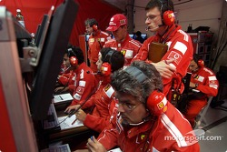 Michael Schumacher in Ferrari telemetry center