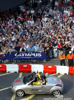 Nigel Mansell en un Ford Ka