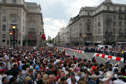 The crowds line the streets during the Regent Street Parade