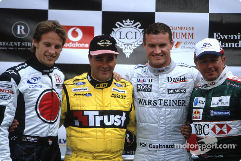 Jenson Button, Nigel Mansell, David Coulthard ve Martin Brundle