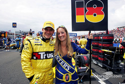 Eddie Jordan's daughter Miki was the grid girl for Nick Heidfeld