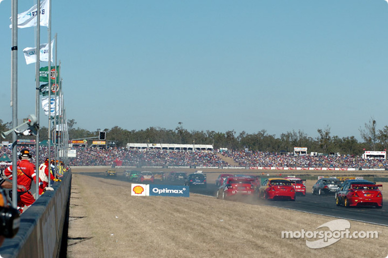 The Konica cars blast off the grid
