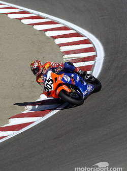 Nicky Moore drops down the corkscrew