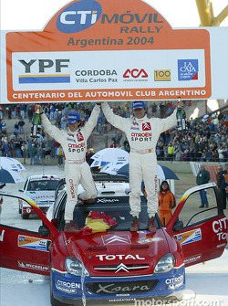 Podium: winners Carlos Sainz and Marc Marti