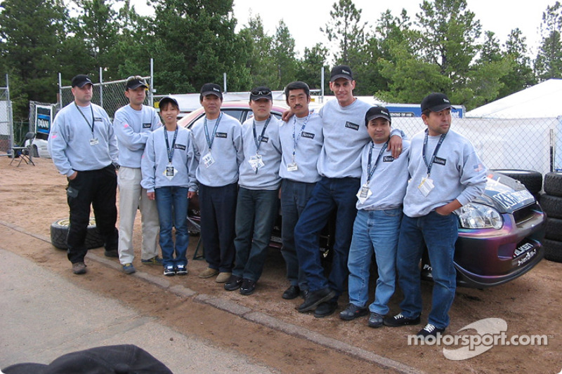 Robby Unser and the Koseki team crew