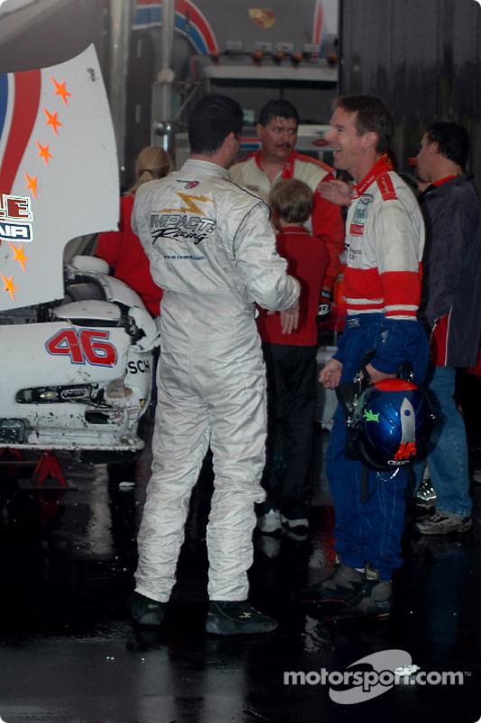 Dégâts pour la Corvette n°46 Michael Baughman Racing