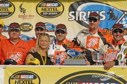 Tony Stewart and the winning crew