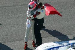 Marco Werner celebrates