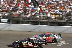 Dale Earnhardt Jr. battles with Sterling Marlin