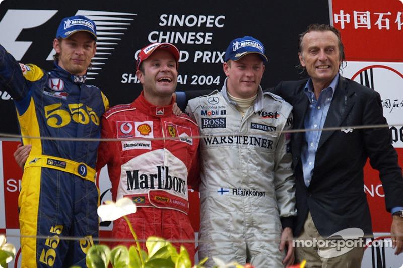 2004. Подіум: 1. Рубенс Баррікелло, Ferrari. 2. Дженсон Баттон, BAR. 3. Кімі Райкконен, McLaren
