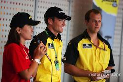Jordan paddock club: Robert Doornbos