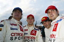 Carlos Sainz, Sébastien Loeb, Marc Marti y Daniel Elena