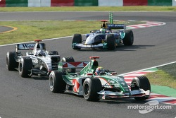 Mark Webber ahead of David Coulthard