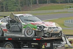Damaged #37 TPC Racing Porsche GT3 Cup: John Littlechild, Jean-François Dumoulin