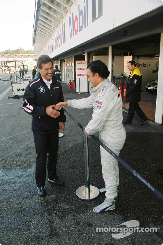 Mario Theissen mit Jean Alesi, Team HWA, AMG-Mercedes C-Klasse 2004