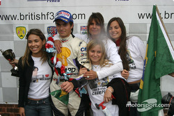 Podium: Nelson A. Piquet celebrates win and championship