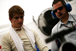 Nico Muller with an engineer