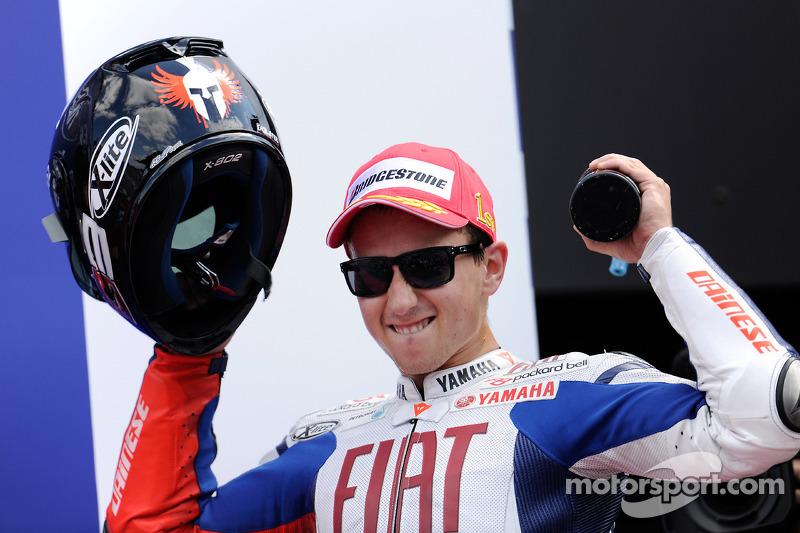 Podium : le vainqueur Jorge Lorenzo, Fiat Yamaha Team