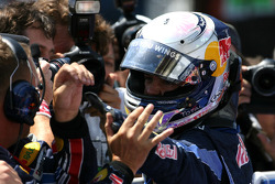 Race winnaar Sebastian Vettel, Red Bull Racing
