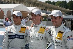 poleman Ralf Schumacher, Team HWA AMG Mercedes C-Klasse, 2e  Bruno Spengler, Team HWA AMG Mercedes C-Klasse, 3e Jamie Green, Persson Motorsport, AMG Mercedes C-Klasse