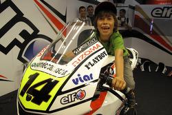A young fan of Randy De Puniet, LCR Honda MotoGP