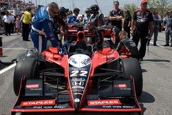 Pole winning car of Justin Wilson, Dreyer & Reinbold Racing