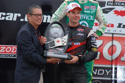 Podium: race winner Will Power, Team Penske