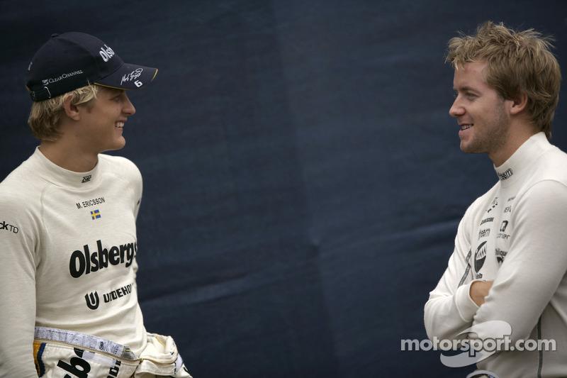 Marcus Ericsson et Sam Bird