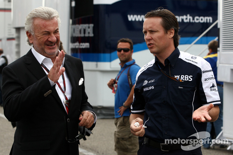 Willi Weber, Driver Manager, Sam Michael, WilliamsF1 Team, Technical director