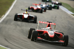 Daniel Juncadella leads Esteban Gutierrez and the field