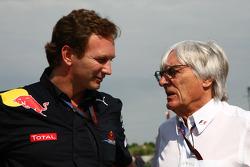 Christian Horner, Red Bull Racing, Sporting Director en Bernie Ecclestone