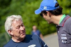 Bruno Senna, with Paul Jackson iSport International Team Principal