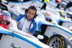 Mirko Bortolotti waits to start the session in the pits