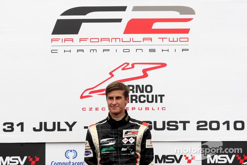 Race winnaar Nicola de Marco op het podium