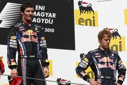 Podium: Sieger Mark Webber, Red Bull Racing, 3. Platz Sebastian Vettel, Red Bull Racing