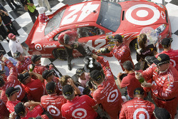 Victory lane: race winner Juan Pablo Montoya, Earnhardt Ganassi Racing Chevrolet celebrates