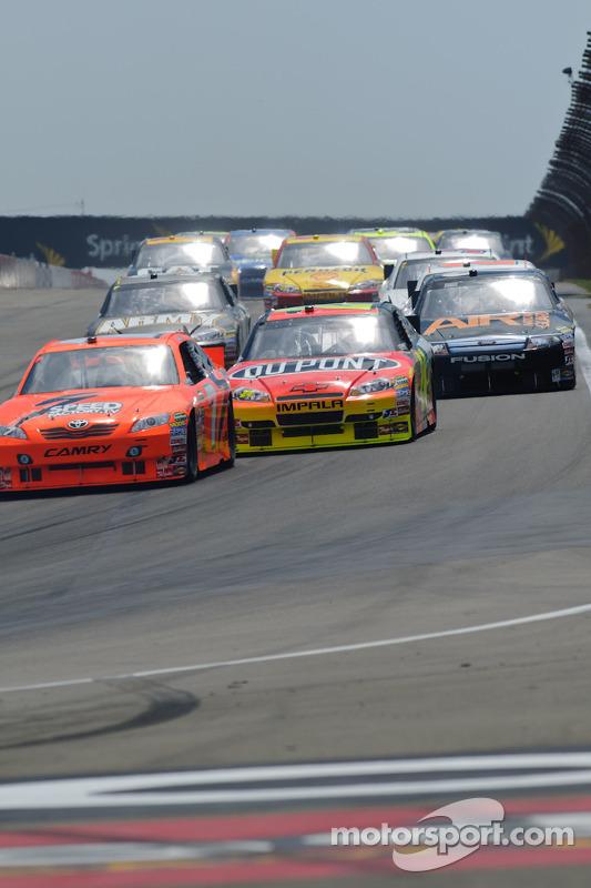 Jeff Gordon, Hendrick Motorsports Chevrolet, Robby Gordon, Robby Gordon Motorsports Toyota