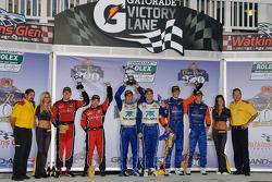 DP podium: class and overall winners Memo Rojas and Scott Pruett, second place Max Angelelli and Ricky Taylor, third place Jon Fogarty and Alex Gurney