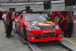 Car of Jamie McMurray, Earnhardt Ganassi Racing Chevrolet at technical inspection