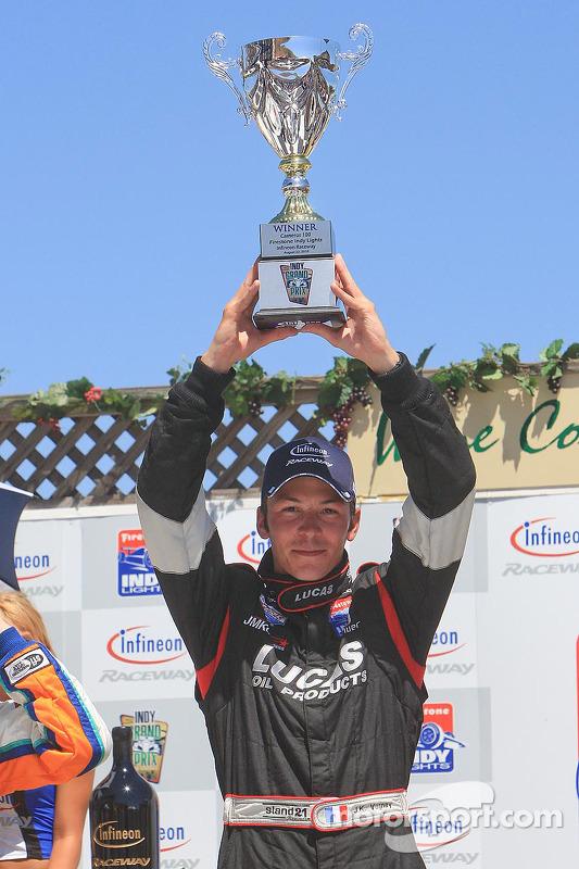Podium: race winnaar Jean-Karl Vernay