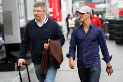 Ross Brawn Team Principal, Mercedes GP, Michael Schumacher, Mercedes GP